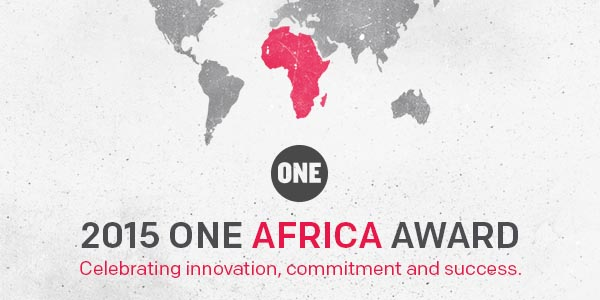 Announcing the 2015 ONE Africa Award!